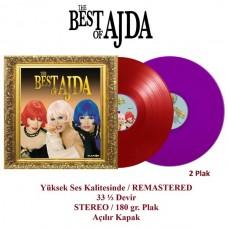 Ajda Pekkan - The Best Of Ajda Kırmızı Mor Renkli Plak 2 LP Yerli Plak
